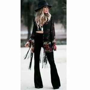 Torn by Ronny Kobo Boho Flare Bellbottom Pants